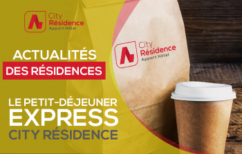 Le petit déjeuner express City Résidence 🥐 !